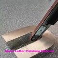 Letra De Canaleta de Metal portátil Máquina de Polimento Sinal Do Metal Polonês Polidor de Carro 220 V plugue DA UE