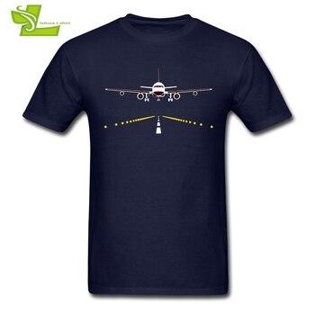 비행기 파일럿 T 셔츠 남성 최신 Tshirts 홈 착용 고품질 느슨한 T-셔츠 남성 짧은 소매 100% 코 튼 멋진 아빠 티