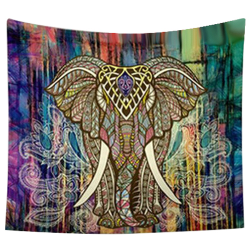 HOT GCZW 203 153cm Indian Mandala Tapestry Mandragora Elephant Printing Beach  Towels Yoga Mat Sun