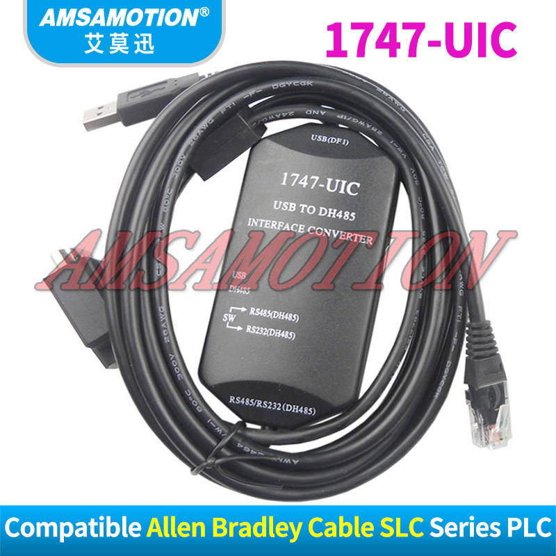 1747-UIC Compatible Allen Bradley SLC Series PLC Download Cable 1747-PIC USB TO RS232/DH-485 Interface Converter USB-1747-PIC 1747 pic a b slc5 series plc programming cable with communications interface rs232 dh 485 interface 3m free shipping