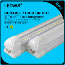 LEDVAS 2-Pack 18W T8 LED Tubes 2Ft LED Integrated Tube Lights Double Strips 30cm 144led Light Lamp Bulb 2feet 60cm AC85-265V