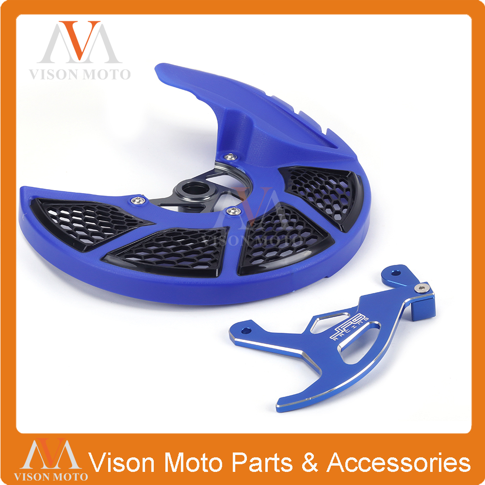Front and Rear Brake Disc Rotor Guard Cover Protection For YAMAHA YZ YZF YZX WRF 125 250 450 YZ125 YZ250 YZ250F YZ450F WRF