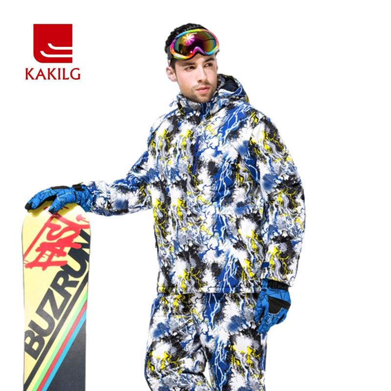 Prix pour 2017 Nouveaux Hiver Veste Hommes de Vêtements de Ski Coupe-Vent Imperméable Hommes Automne Hooide Manteau Ski Snowboard Sport Vestes KL70MJ