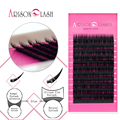 C curl Ellipse Flat Silk Lashes Hand Made Eyelash Extensions Thin and Soft Material 3d 6d Voluming Lashes Tray Individual Lashes