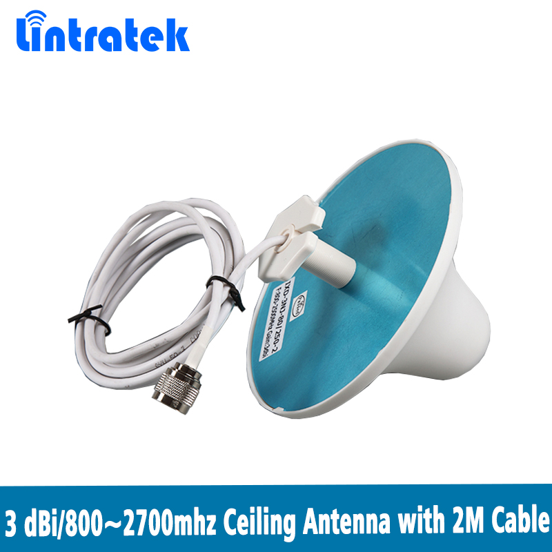 800~2700MHZ With 2 Meters Cable Indoor Ceiling Antenna Mushroom Antenna For GSM DCS CDMA PCS AWS WCDMA LTE Signal Repeater @7.5