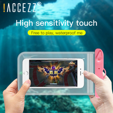 !ACCEZZ PVC Waterproof Bag 6 inches Pouch Phone Case For iPhone XS XR Xiaomi Huawei Samsung HTC Mobile Swimming Cover