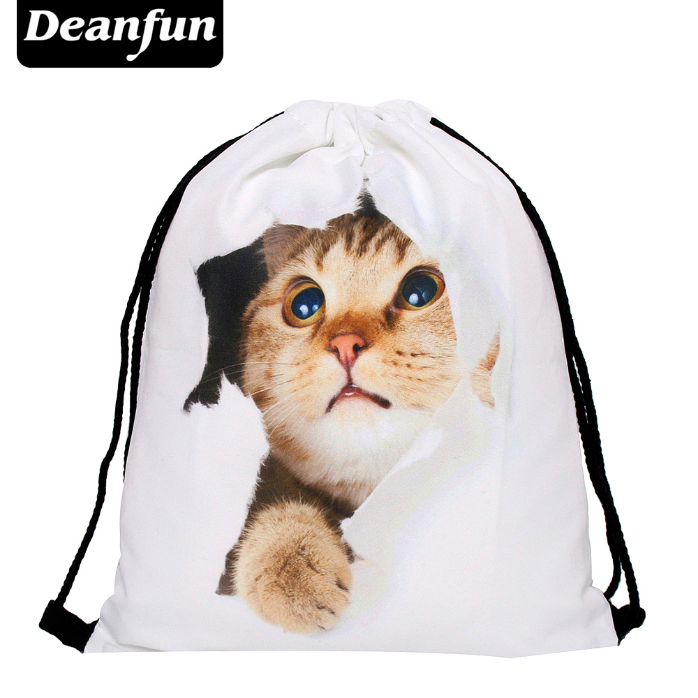 Deanfun  New Fashion Cat Women Backpack 3D Printing Travel Softback Women Mochila S39