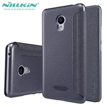 For Meizu M3S mini Case NILLKIN Sparkle super thin flip cover luxury leather case for Meizu M3S (meilan 3s) with Retail Package