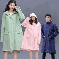 Lange Regenmantel Frauen Männer Wasserdicht mit kapuze Regen Mantel Ponchos Jacke mantel Weibliche Chubasqueros Impermeables Mujer