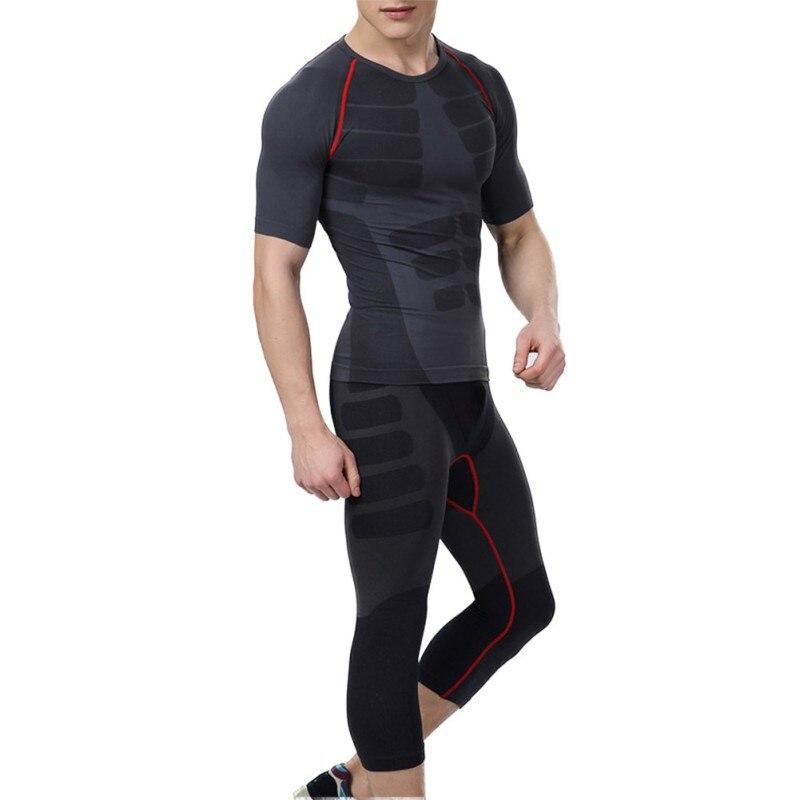 2017 hombres Quick-Dry Athletic corto Pantalones compresión tren Camisetas  de lycra de hombre deportivo piel Mallas para correr 37f9db949876