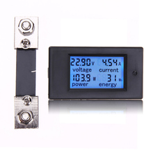 100A DC 6.5-100V Digital Watt KWH Current Power Energy Meter Ammeter Voltmeter 7-100