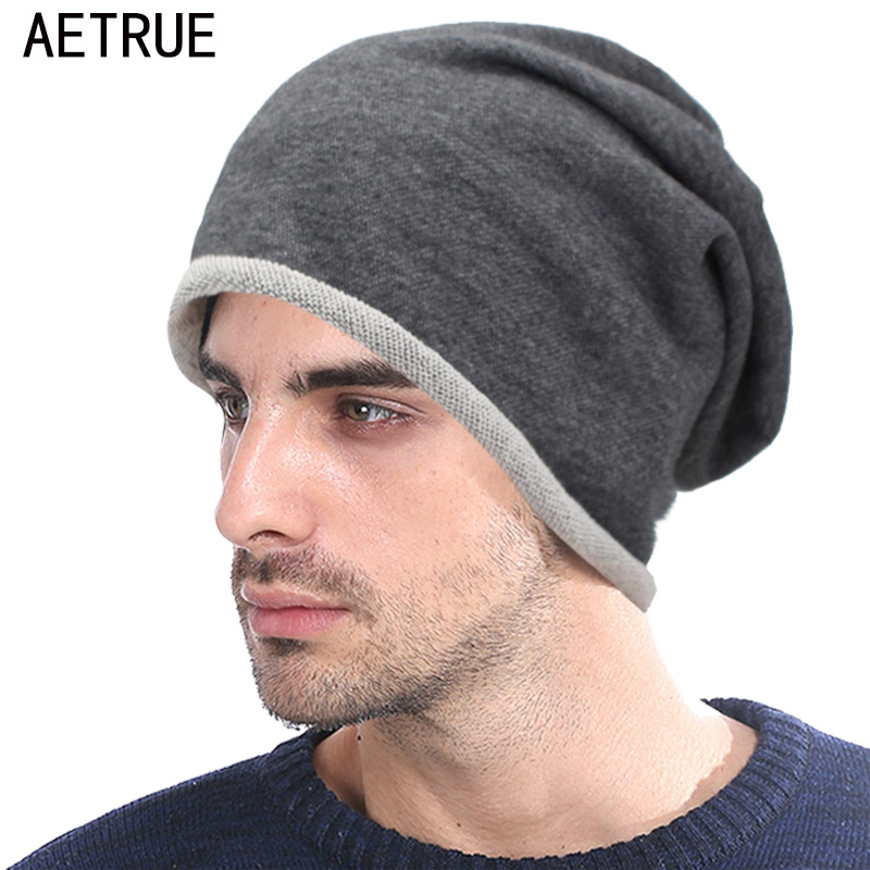 AETRUE Beanie Hat Women Autumn Winter Hats For Men Fashion Skullies Beanies Bonnet Solid Warm Mask Soft Male Knitted Hats Caps