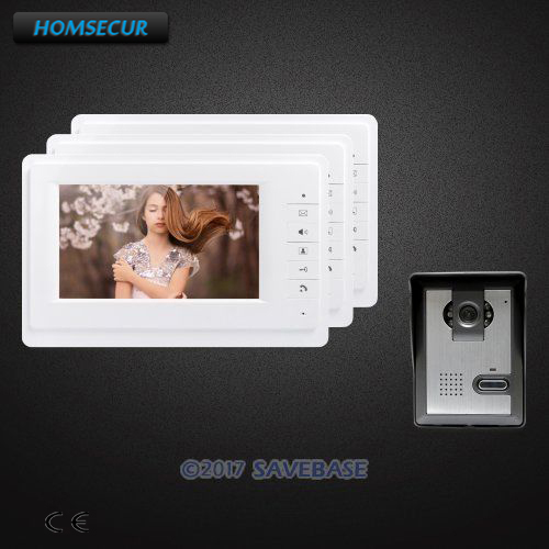 HOMSECUR 7inch Video Door Entry Phone Call System with One Button Unlock for House/ FlatHOMSECUR 7inch Video Door Entry Phone Call System with One Button Unlock for House/ Flat