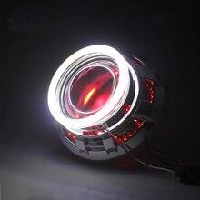 100 мм 72 SMD супер яркий Ангел глаз Halo Кольцо COB свет круг DRL лампа фар автомобиля фара красный желтый розовый синий
