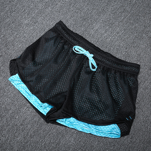 Summer Fake Two Pieces Quick Dry  Shorts