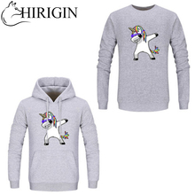 NEW Fashion Men Women Round Neck Hoodie Unicorn Printed Sweatshirts Winter Cotton Clothes 1PC US