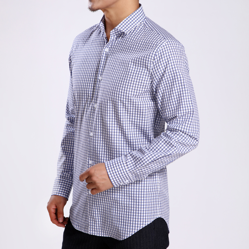 J.Del'or New Arrival Men's Cotton Fancy/Classic Dress Shirts Classic Royalblue Long Sleeve Slim Fitting High Quality Euro.Design