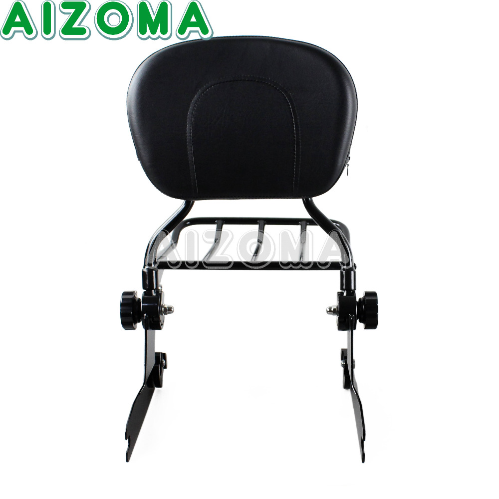 Detachable Backrest Cushion Sissy Bar Motorcycles Rear Luggage Rack Holder For Harley Davidson Softail Deluxe FLSTN 2005-2014 bar rear axle covers for harley davidson heritage softail classic deluxe flst slim fls flstc flstn flstsb cross bones 2008 2017