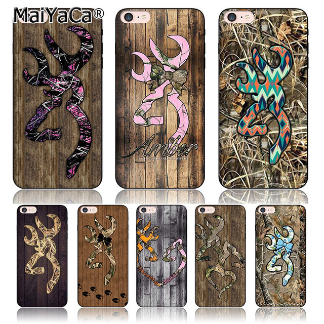 MaiYaCa Colorful camo browning blue red wood silicone black soft Phone Accessories For iPhone 6 6s 640x640