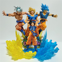 Dragon Ball Super Figura Goku Ultra Instinct Super Saiyan Action Figures Figurine Anime Dragon Ball Z Goku Model Toy DBZ Diorama
