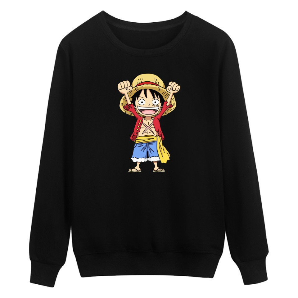 Forceful Anime One Piece Hoodies Pullover Sweatshirt Monkey D Luffy Harajuku Casual Tracksuit Tops Streetwear Crewneck Hoodie Sweatshirts Men's Clothing