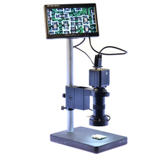 Best price 2.0MP VGA Digital Industrial Microscope Camera + 100X Zoom C-mount Lens+7″ LCD Monitor+144 LED Adjustable Light +Table Stand