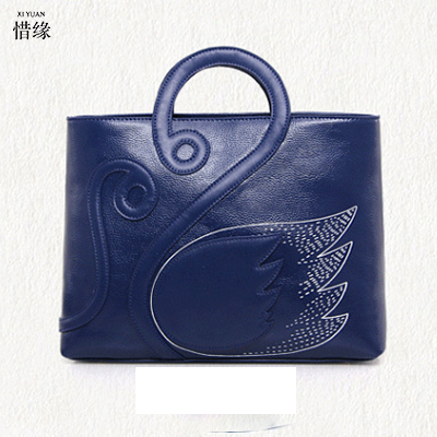 XIYUAN BRAND Women Genuine Leather Handbag cowskin Fashion solid Handbags Casual Women Shoulder Bag Women blue/red crossbody bag fashion leather women shoulder big bag genuine leather cowskin paste brand luxury leather message women bag 7 colors p1006a