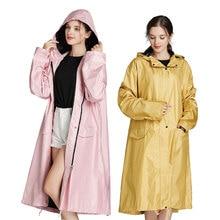 High quality new fashion girls waterproof long women rain jacket coats hooded for outdoor hiking cycling