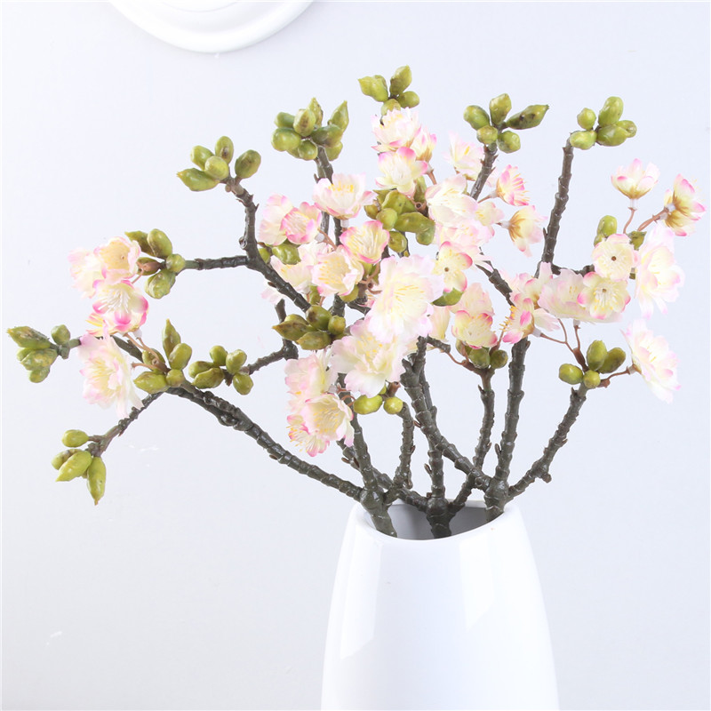 3 Branches Small Anese Cherry Blossom Artificial Flowers Plan Iy Wedding Garden Home Decor Flores In Dried