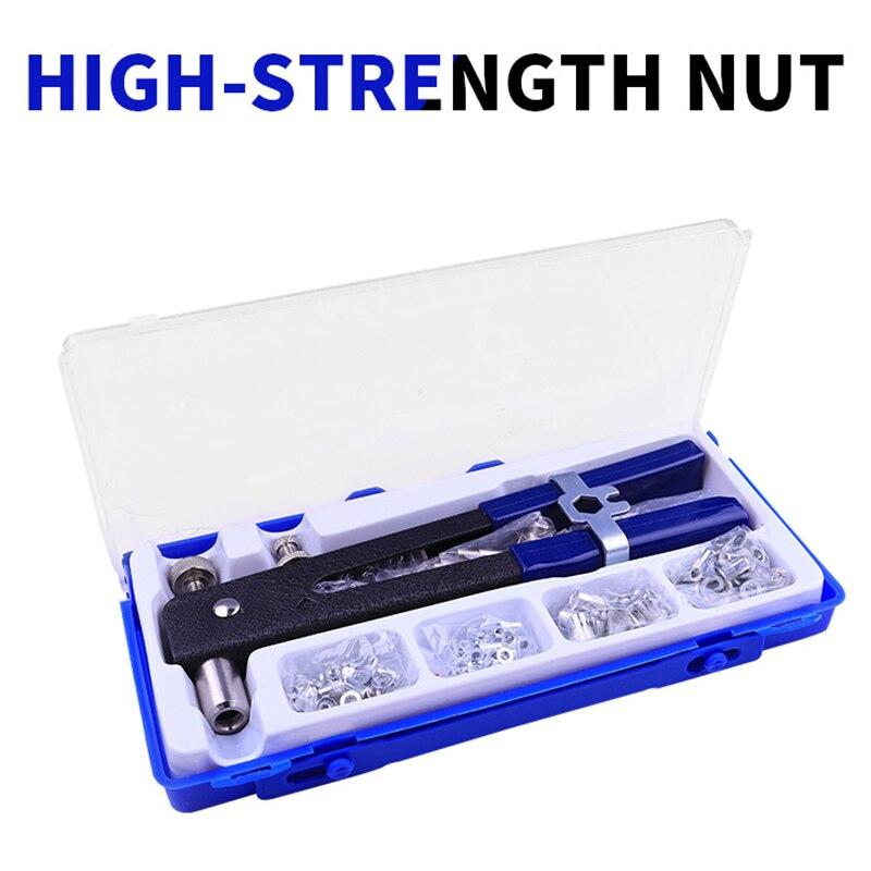 86pcs/Set Blind Rivet Gun Heavy Duty Nut Threaded Insert Hand Riveting Kit M3-M8 Rivet Nuts Nail Gun Household Repair Tools