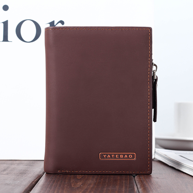Classic matte Leather Mens Wallet Man Coin Purse Small Brand Male Credit&id Multifunctional Walets
