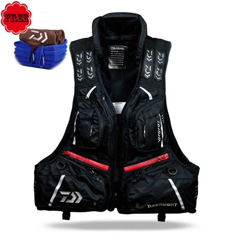 DF 3104 Black Fishing Vest Life Jacket Buoyancy 80N 120KG Detachable Life Vest Fishing Clothing Fishing