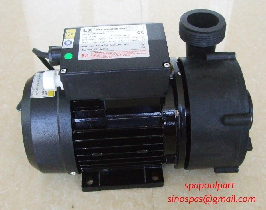 Nouveau 250 W SPA bain piscine électrique CIRCULATION pompe à eau Centre d'aspiration, escapade filtre pompe-WTC50M