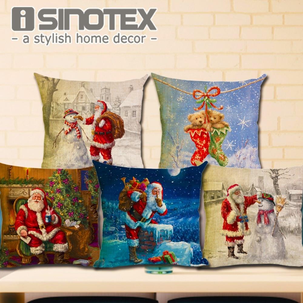 Veselé Vánoce řady Vankusový obal Vánoční strom Sněhulák - Bytový textil