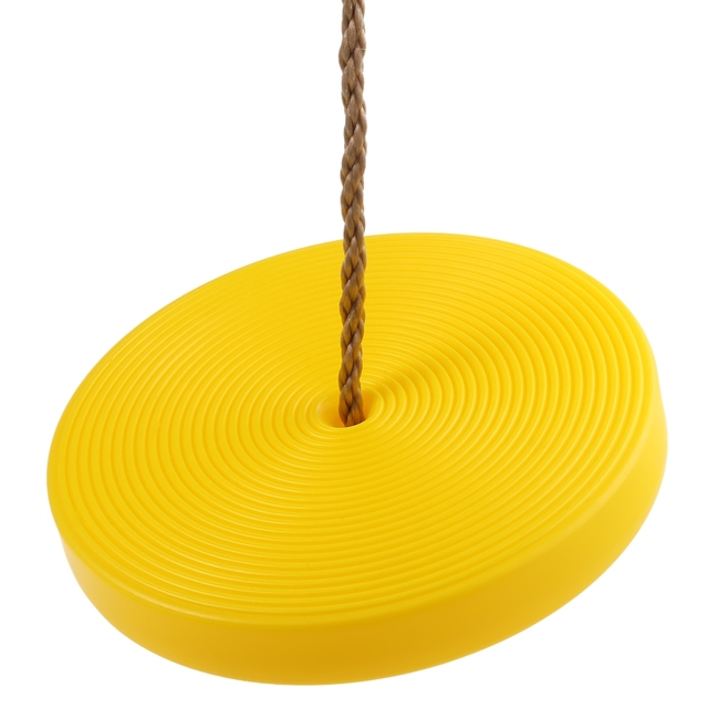 Children Round Disc Swing Seat Height Adjule Plastic With Rope Set Hanging Outdoor Toys
