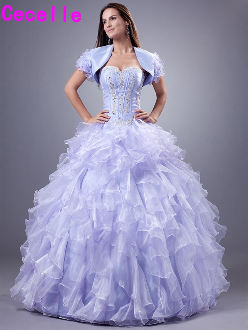 Lavender Ball Gown Princess Quinceanera Dresses 2019 With