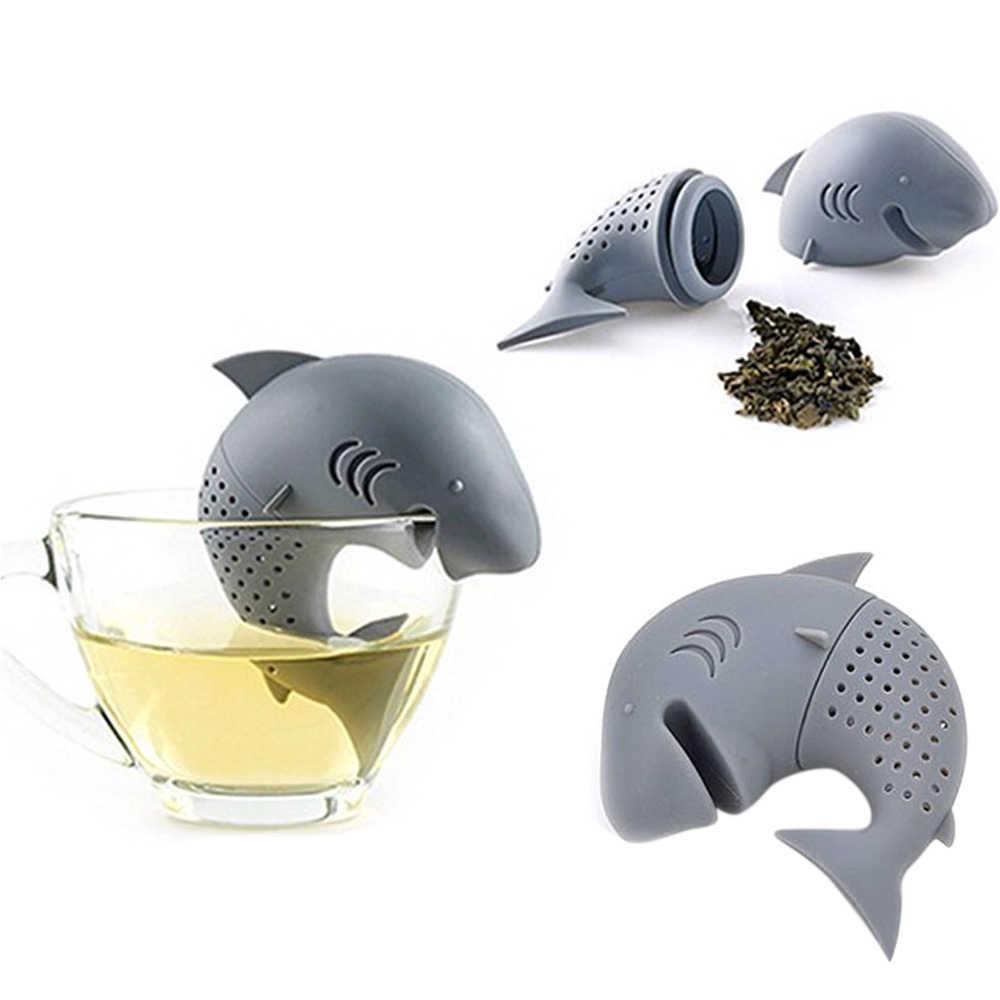 Многоразовое яйцо динозавра/акула/Сова/милый язык Чай Infuser Чай Мешок лист травяной сито для приправ диффузор принадлежность для чая Силиконовое чайное ситечко