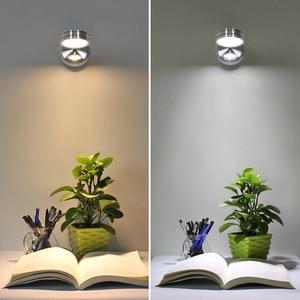 Image 1 - Светодиодная настенная лампа AC85 265v 5 Вт, Современная прикроватная лампа для спальни, регулируемый настенный светильник с углом поворота, лампы для чтения с переключателем