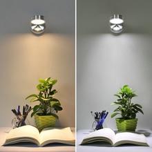 Led ウォールランプ AC85 265v 5 ワット現代の寝室のベッドサイドランプ度の角度で調整可能な壁ライト読書ランプスイッチ