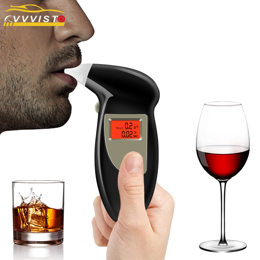 2018 VVVIST Alkohol Tester LCD Display Atem Alkohol Tester Prefessional Polizei Alkohol Die Alkoholtester Parkplatz Alkoholtester