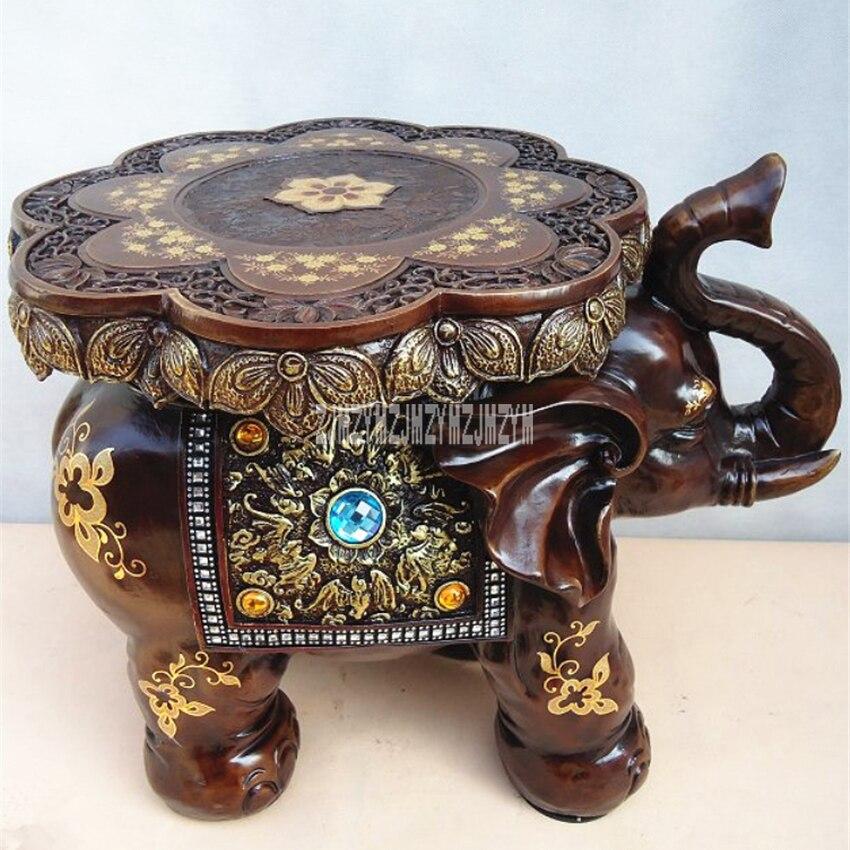 BUCD01-20 eléphant ameublement résine eléphant tabouret maison réchauffement cadeaux résine tabouret eléphant ameublement chaussures à langer tabouret