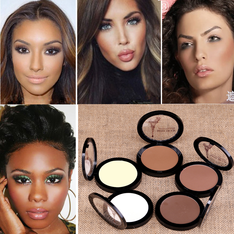 Brand Makeup Matte Powder White Bronzer Brightener Oil Free Pro Longwear Face Highlighter Makeup Contour Powder Palette