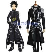 Free Shipping Sword Art Online Alfheim Online Kirito New Cosplay Costume Custom Size
