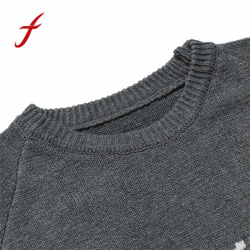 Suéteres de invierno Retro para hombre Jersey de punto estampado Casual suéteres ropa exterior Harajuku otoño Tops nueva moda 2018