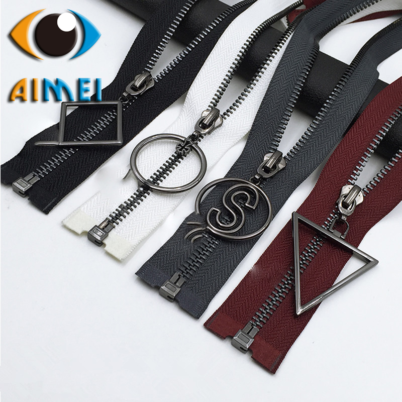 Manufacturers of metal black teeth open tail zipper high - end clothing jacket men and women jacket cotton clothing zipper whole