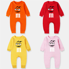 2018 Autumn Boy Clothes 100% Cotton  M Humorous Smiling Face Lengthy Sleeve Romper Child New child Garments Jumpsuit Brief Child Clothes