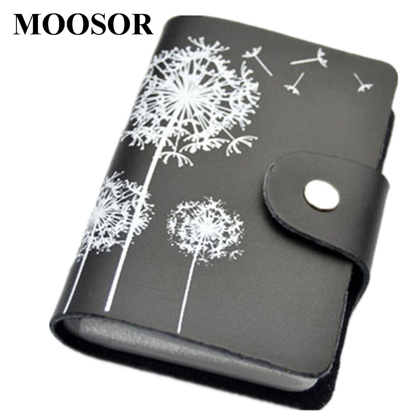 2017 Genuine Leather Print Women Business Card Holder 11 Colors ID Card Credit Card Holder Protector Organizer Card Wallet DC57 26 slots genuine leather women men id card holder card wallet purse credit card business card holder protector organizer dc29