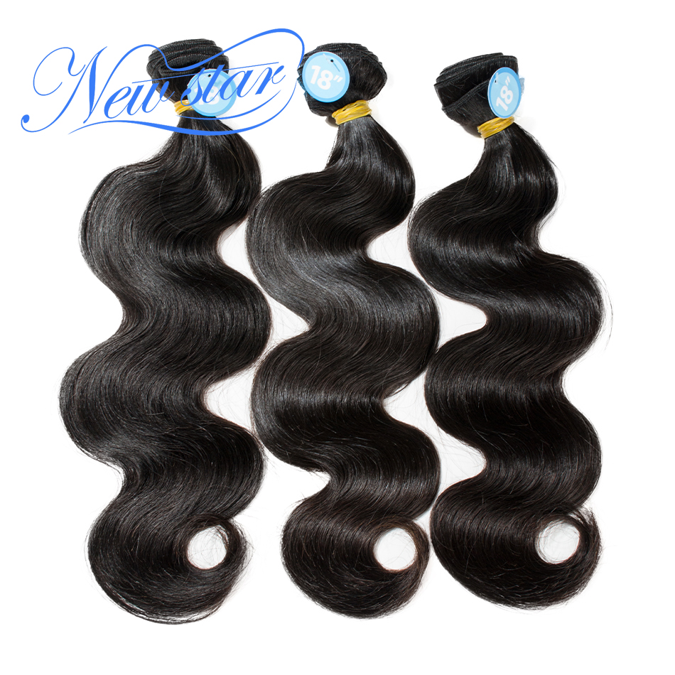 NEW STAR Brazilian Body Wave 10-34Inch 3 Bundles 100% One Donor Thick Virgin human Hair Weave Extension Unprocessed Hair Weaving