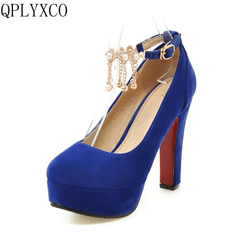 QPLYXCO 2017 New sale sweet fashion big small size 31-47 women shoes high heel lady spring autumn pumps party wedding shoes T-2 hot sale big size 31 43 fashion women shoes solid pu leather sweet bowknot decoration high heels small size 31 32 33 chd d21