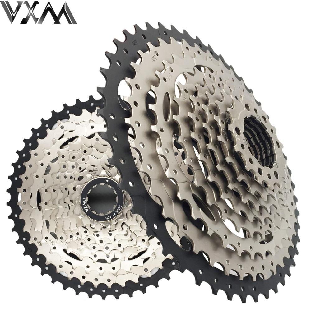 VXM Bicycle Flywheel 10 Speed 10s Cassete MTB Mountain Bike Freewheel 11T-46T Ultra Light Bicycle Flywheel Bicycle Parts mtb mountain bike bicycle 10s cassette freewheel 10 speeds flywheel 11 36t teeth crankset bicycle parts 392g silver